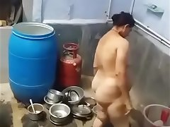 Haryani Aunty With Big Ass Naked In Bathroom
